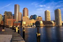 Fan Pier - Morning Run (TomBerrigan) Tags: fort fan pier boston mass massachusetts harbor ocean skyline sunrise