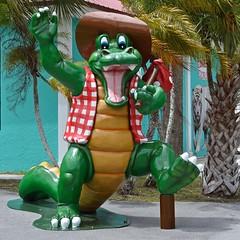Howdy Y'all (ACEZandEIGHTZ) Tags: nikon d3200 evergladescity florida alligator statue cowboyhat