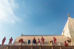 @Nandgaon Temple,Mathura. (vjisin) Tags: holi colours springfestival india incredibleindia indianheritage asia nikond3200 nikon indianboy action nandgaon mathura uttarpradesh brajholi joy temple surreal people happiness iamnikon festival travelphotography travel sky templetop