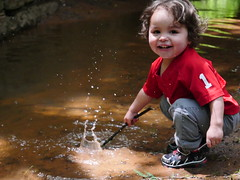 After the rain (Abookoshi) Tags: child boy happy play water splash nature outdoors