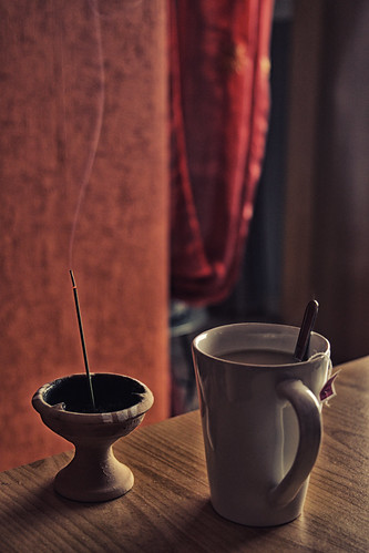 Chai tea break and incense