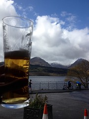 Well earned pint at Inversnaid, Loch Lomond (billyrosendale) Tags: doune lochlomond trossachs nationalpark cycling cycle bike biking bicycle bicycling scotland inversnaid lochdrunkie lochvenachar lakementrie lochard lochchon locharklet dukespass aberfoyle