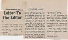 Stirling Pipe Band Pine Falls Newspaper Articles-29 (Hugh Peden) Tags: stirling pipe band pine falls manitoba major william bill macleod