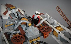Repairs on the Y-wing (adde51) Tags: adde51 lego moc star wars steampunk steamwars steam steampowered ywing space spaceship