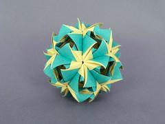 Hymenocallis (masha_losk) Tags: kusudama кусудама origamiwork origamiart foliage origami paper paperfolding modularorigami unitorigami модульноеоригами оригами бумага folded symmetry design handmade art