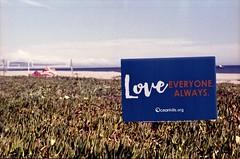 Love Everyone Always (edwardconde) Tags: lifeguard film minolta c200 x570 fujicolor200 california santabarbara c41 carpinteria self processed aristac41kit