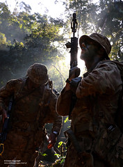 Royal Marines feel the heat in the jungle of Belize (Defence Images) Tags: bfa blankfiring attachment ironsights 556mm l85a2 sa80a2 sa80 assaultrifle smallarms firearm gun weapons belize jungle excurrytrail centralamerica deltacompany 40commandoroyalmarines junglewarfarespecialists royalmarineexercise frontlineoperations royalmarineunit southamerica 40commando royalnavy royalmarines personnel identifiable rank noncommissionedofficer nco juniornoncommissionedofficer jnco lancecorporal lcpl unit 3commandobrigade 3cdobderm 40cdo taunton training survivaltraining jungletraining jungletracking terrain landscape rainforest equipment combats camouflage multiterrainpattern mtp personalloadcarryingequipment plce webbing belt pouch bergen silhouette camouflagecream defence defense uk british military