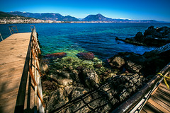 At the pier again (Melissa Maples) Tags: alanya turkey türkiye asia 土耳其 亚洲 nikon d5100 ニコン 尼康 sigma hsm 1020mm f456 1020mmf456 spring mediterranean sea water bay mountain rocks pier