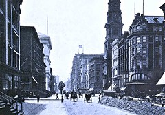 38th St. and 5th Ave. looking South, Manhattan - 1905 (SSAVE w/ over 7 MILLION views THX) Tags: newyorkcity manhattan 1905 streetscenes