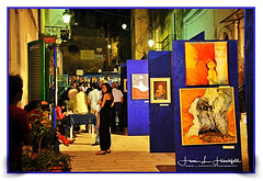 """""""Pictures at an Exhibition"""" (""""SnapDecisions"""" photography) Tags: oria puglia italy art show evening nikon d700 hirschfeld"""