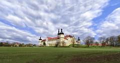 Hradisko Monastery (tomas.jezek) Tags: sky monastery olomouc czechia hospital czphoto baroque heritage clouds wind yellow