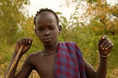 Mursi Boy (Rod Waddington) Tags: africa african afrique afrika äthiopien ethiopia ethiopian ethnic etiopia ethnicity ethiopie etiopian omo omovalley portrait people boy mursi tribe traditional tribal donga beads outdoor mago