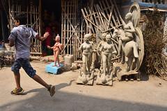 Caught in the act (Rajib Singha) Tags: travel street children portrait fun city outdoor idol interestingness flickriver nikond7200 kumartuli kolkata westbengal india