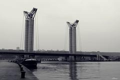 Le pont Gustave-Flaubert Rouen (Un jour en France) Tags: seine pont rouen péniche fleuve