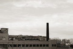Day 98: Is for ... The Lonely Chimney (Storyteller.....) Tags: blackandwhite blackwhite chimney lonely 365 industrial urban city abandonment