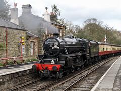 LMS Stanier Class 5MT (chaz jackson) Tags: goathland yorkshire uk lmsstanierclass5mt black5 staem stanier nymr railway locomotive
