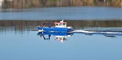 Reflection in the water  /  Spegling i vattnet (larseriksfoto) Tags: boat båt spegling reflection water sea vatten tromöy tromöysund austagder sörlandet arendal dmctz70 dmczs50