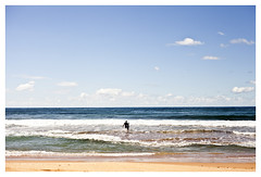 Fear V Courage (Anita Waters) Tags: surfer narrabeen ocean fear courage