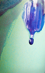 Drip (jimj0will) Tags: mm macromonday glaze closeup macro tubes drip blue mat shiny poole dorset