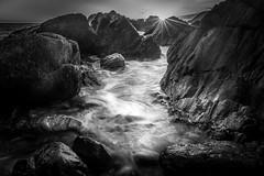 Days End (garethleethomas) Tags: last light beach sunset coast rocks longexposure landscape blackandwhite mono monochrome uk greatbritain