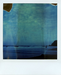 (Matt Chalky Smith) Tags: roidweek surf surfer instantsurf polaroid sx70 timezero tz blue chapel chapelporth