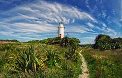 west coast tauranga bay light house 1 (Bilderschreiber) Tags: light house lighthouse leuchtturm tauranga bay taudangabay bucgt sky himmel wolken clouds green grün neuseeland newzealand southisland südinsel track weg walkway