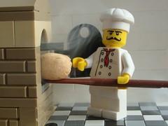Fresh Bread (captain_joe) Tags: ofen oven cook bäcker bäckerei smoke brot brötchen toy spielzeug 365toyproject lego minifigure minifig