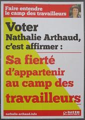 Sa fierté d'appartenir au camp des travailleurs (emmanuelsaussieraffiches) Tags: affiche politique political poster lutteouvrière