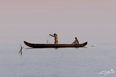 Fishermen on Lake Vembanad (chris.bon) Tags: kerala vembanad india cochin alleppey lake