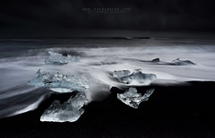 My precious (FredConcha) Tags: iceland ice jökulsárlón beach blackbeach landscape nikon d800 fredconcha lee nature iceberg darkness