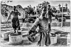 Aiya Napa Monument (Holfo) Tags: cyprus ayianapa monumnet bronze hdr blackandwhite monochrome nikon d5300