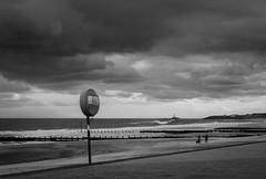 Brighter skies ahead (Johnbasil1) Tags: moody dark cloud cold foreboding bw mono pentax k3 beach waves sea