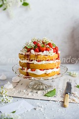 strawberry cream and meringue cake (magshendey) Tags: cake strawberry sweet dessert summer food foodphoto foodstyling foodphotographer cream sponge baking light