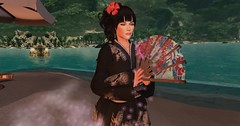 Haruka - Matching my Classic Head (Our Pixel Lives in SL) Tags: lelutka bento head matching art maitreya japan kimono cate shape skin secondlife twitter tumblr haruka