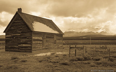 Keeping Watch (RerunCo) Tags: leadville colorado sawatchrange mountains clouds abandoned