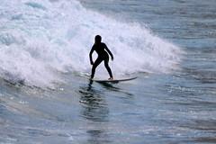 downhill (Wackelaugen) Tags: surf surfing woman silhouette water wave ocean atlantic sea surfboard balance laspalmas grancanaria spain europe canaries canaryislands canaryisles canon eos photo photography wackelaugen