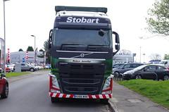 "Eddie Stobart ""Robyn Jennifer"" in Morpeth (stephen.lewins (1,000 000 UP !)) Tags: volvo eddiestobart trucks trucking wagons lorries imaneddiespotter robynjennifer kx66mxk h 4656"