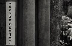 YOUKNOWMEWELL (jcbkk1956) Tags: canon fd 50mmf14 manualfocus manualexposure mono blackandwhite fuji xt1 bangkok thailand thonglo street sticker streetfurniture texture tree dof