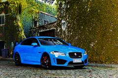 Jaguar XFR-S (Jeferson Felix D.) Tags: jaguar xfrs jaguarxfrs blue blu azul canon eos 60d canoneos60d 18135mm rio de janeiro riodejaneiro brazil brasil worldcars photography fotografia photo foto camera