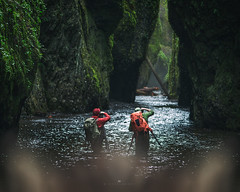 The First Stop (Michael Bandy) Tags: oneonta gorge oregon columbiarivergorge forest river creek nature landscape moss photographers behindthescenes bts inthefield