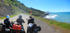 2017_0430_009 (seannarae) Tags: 2017 april bmw brian ca ducati hwy1 lostcoast matt motoguzzi motorcycle pano pch s95 sean sr1 sunday