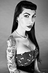 Stephanie Agari (Amanda Tavano) Tags: woman girl up tattoo pin body mulher piercing tattoos chick stephanie garota piercings modification menina pinup corporal tatuagem tattooed alargador agari tatuada modificao hepidermal