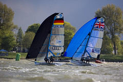 Delta Lloyd Regatta 2013  Sander van der Borch (BritishSailingTeam) Tags: netherlands europe thenetherlands olympic medemblik nld deltalloyd olympicclasses deltalloydregatta 49erfx eurosafchampionssailingcup