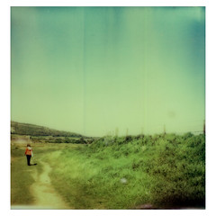 Keer Estuary Walk (darrenriley) Tags: polaroid sx70 lancashire instant polaroidsx70 canrforth impossibleproject colorprotection