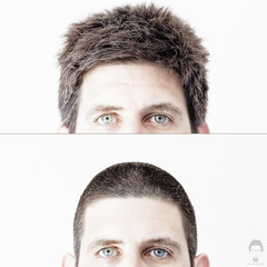 Before and After (Prozac74) Tags: haircut me diptych highkey fullsize prozac74 canoneos5dmarkii