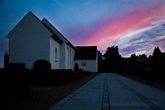 IMG_7306 (Nanna Munk) Tags: sunset church colors beautiful denmark cross tolne