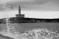 Vieste Lighthouse 2010 B&W (Zabbio) Tags: italy lighthouse faro puglia vieste gargano