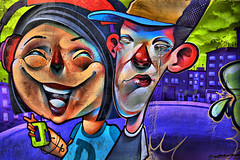 Street Art Zaragosa Spain (Ted Dobosz) Tags: street art canon lens spain graffitti caricature 1740mm 6d zaragosa