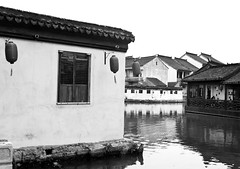 Tongli Waterways (William J H Leonard) Tags: china street urban blackandwhite bw streets building water monochrome architecture rural buildings river asian town canal asia village shanghai chinese streetshots streetphotography canals waterway waterways chineselanterns eastasia tongli eastasian chinesearchitecture canaltown asianarchitecture