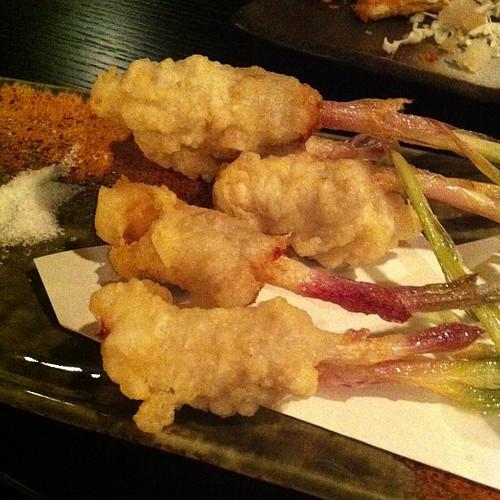 葉しょうが豚巻天ぷら #dinner